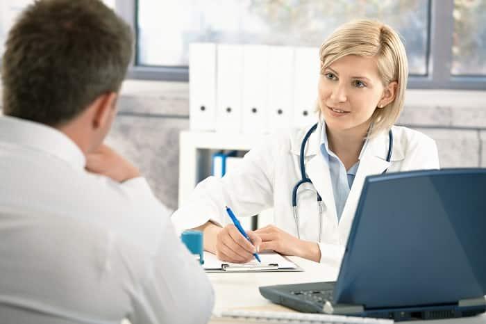 Diskusjon med helsepersonell