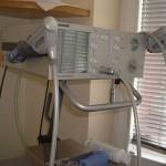 Behandling av benhinnebetennelse med trykkbølge-behandling.