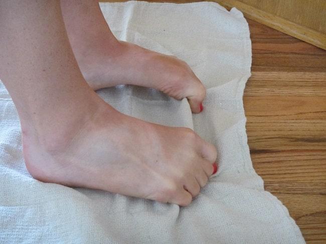 Tåcrunch med håndkle
