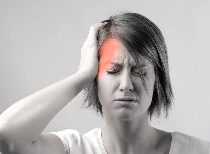 hodepine i tinningen