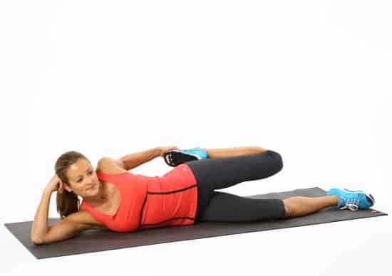 liggende quadriceps hofte tøyning uttøyning